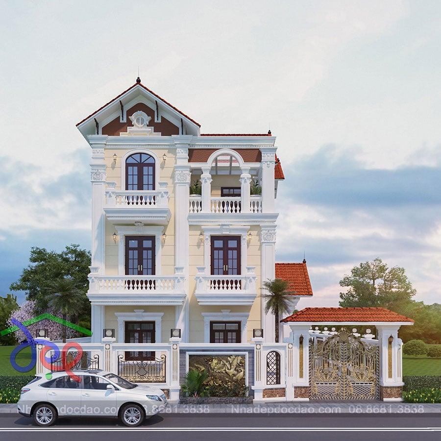 Thiết kế biệt thự 3 tầng phong cách tân cổ điển