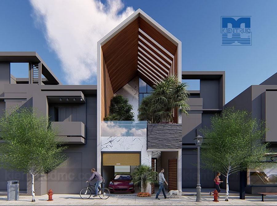 Thiết kế nhà phố 2,5 tầng phong cách hiện đại trên diện tích 60m2