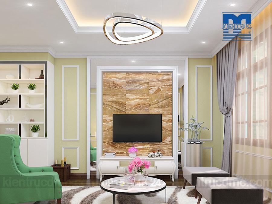 Thiết kế nội thất dinh thự 2 tầng phong cách tân cổ điển đẹp, sang trọng