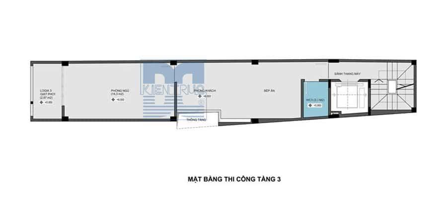 Thiết kế chung cư mini 6 tầng trên diện tích 49m2