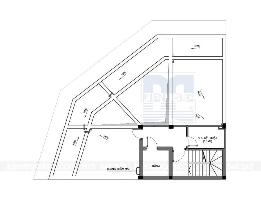Thiết kế nhà phố 3 tầng hai mặt tiền trên diện tích 147m2