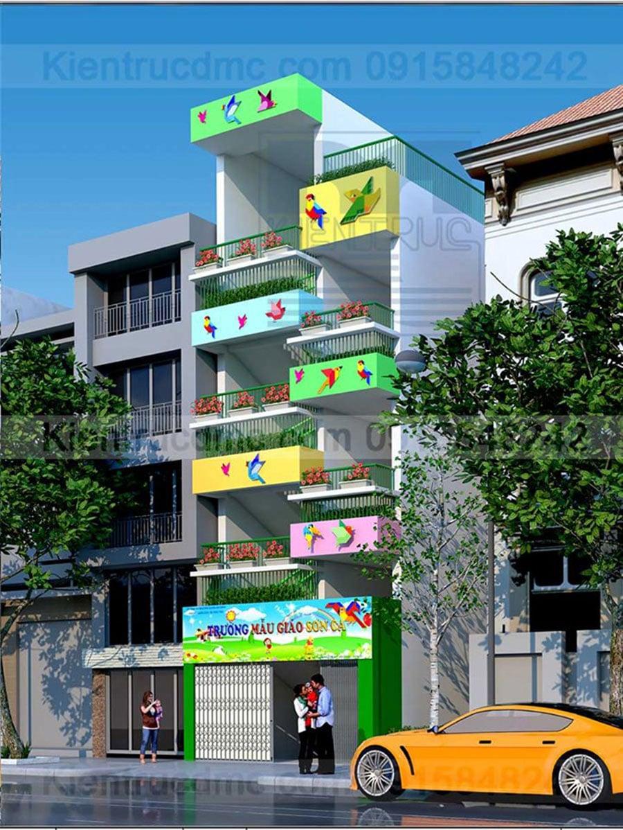 Thiết kế cải tạo Trường Mẫu giáo Sơn ca cơ sở 2 quận Ba Đình