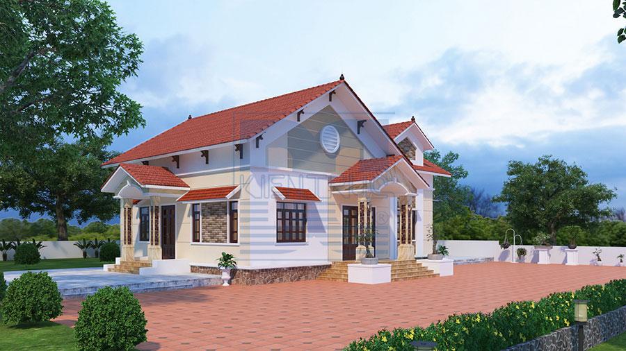 Thiết kế cải tạo biệt thự nhà vườn 1 tầng trên diện tích 150m2