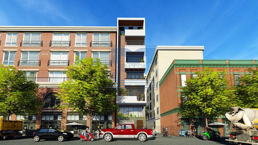 Thiết kế nhà phố 5,5 tầng 1 mặt tiền phong cách hiện đại
