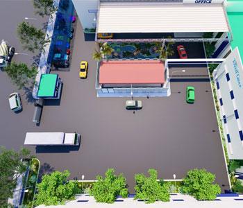 Thiết kế nội thất ngoại thất và tiểu cảnh sân vườn nhà máy sản xuất Tập đoàn Tonmat