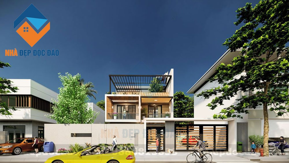 Thiết kế biệt thự 2 tầng phong cách hiện đại, sang trọngg