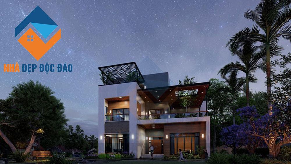 Thiết kế biệt thự phố 3 tầng phong cách hiện đại