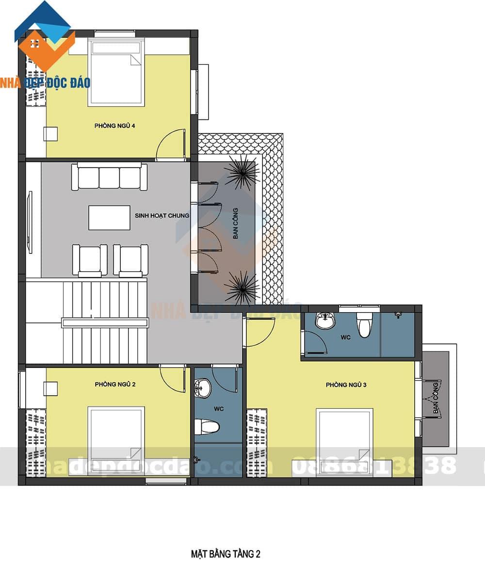 Thiết kế biệt thự 3 tầng phong cách cổ điển