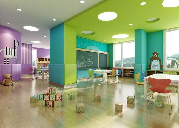 Mẫu thiết kế Trường mầm non tư thục đẹp