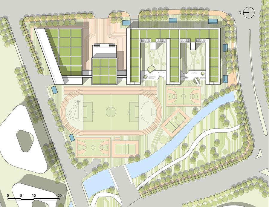 Mẫu thiết kế Trường Tiểu học Thâm Quyến