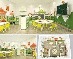 Thiết kế nội thất trường mầm non đẹp tại Trung Quốc