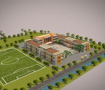 Thiết kế Trường mầm non 2 tầng trên diện tích 10172m2
