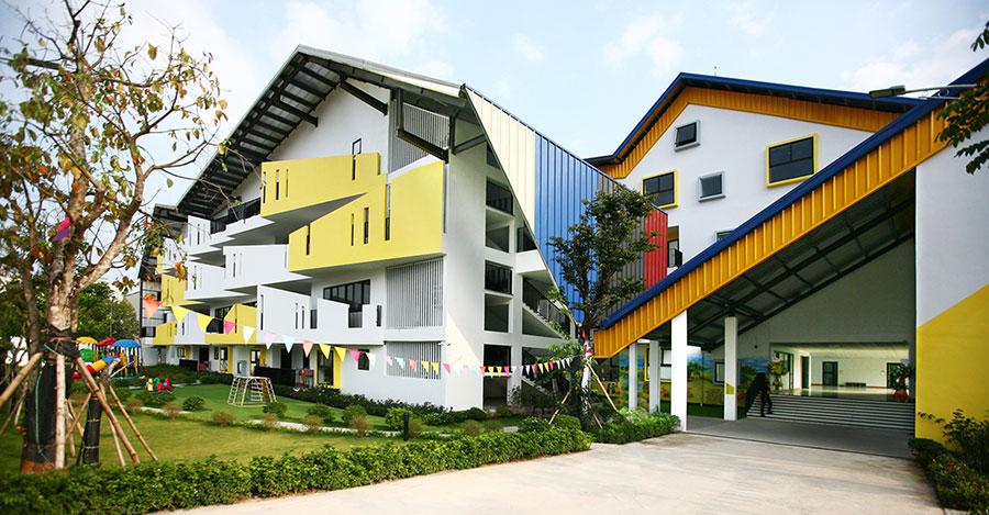 Thiết kế Trường mầm non Dạ Hợp trên diện tích 2200m2