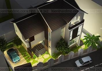 Thiết kế biệt thự mini trên đất hình thang – Quảng Bình