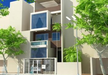 Thiết kế nhà phố 4 tầng mặt tiền 6m – Tây Hồ