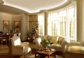Ánh sáng trong không gian phòng khách