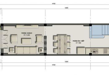 Thiết kế nhà phố 4,5 tầng mặt tiền hẹp