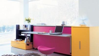 Phòng làm việc với sắc màu hài hòa