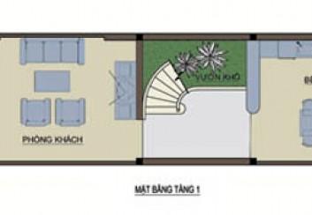 Thiết kế nhà phố lệch tầng trên đất hẹp