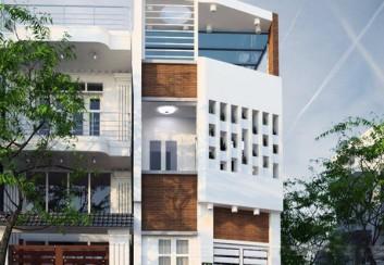 Mẫu thiết kế nhà phố hai mặt tiền hiện đại 2015