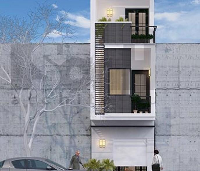 Thiết kế nhà phố 3 tầng 36m2 hợp tuổi canh thân