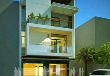Thiết kế nhà phố 3,5 tầng 61m2