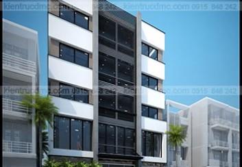 Thiết kế nhà phố kết hợp kinh doanh trên đất hình thang