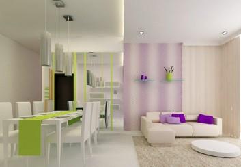 Sử dụng màu sắc trong không gian nội thất phòng khách