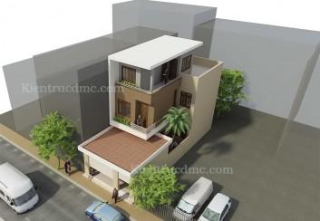 Thiết kế nhà phố 2,5 tầng mặt tiền 6,8m