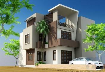Thiết kế nhà phố 2 mặt tiền diện tích 120m2