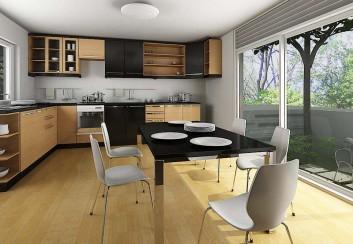 Phong cách thiết kế phòng bếp mở cho nhà thông thoáng