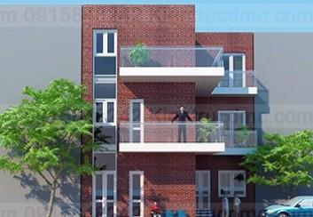 Thiết kế biệt thự mini 3 tầng hiện đại đẹp phong cách