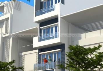 Thiết kế nhà 4,5 tầng trên đất hẹp