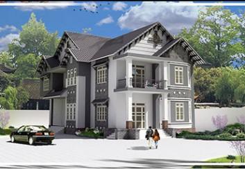 Mẫu thiết kế nhà vườn 2 tầng đẹp