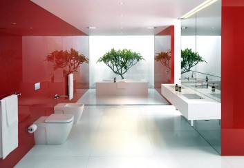 Thiết kế không gian phòng tắm rộng rãi