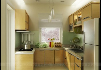 Nội thất phòng bếp trong căn hộ chung cư