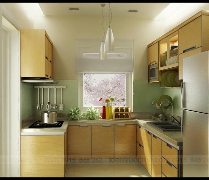 Nội thất phòng bếp trong căn hộ trung cư
