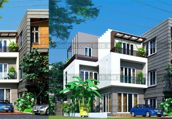 Thiết kế biệt thự phố 3 tầng diện tích 80 m2
