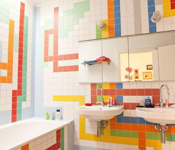 Lưu ý khi thiết kế nội thất phòng tắm cho bé