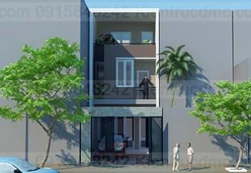 Thiết kế nhà phố trên đất 96m2 phong cách hiện đại