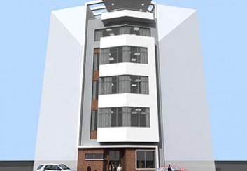 Thiết kế nhà lô phố 5 tầng hiện đại cho thuê văn phòng