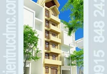 Thiết kế nhà phố 7 tầng phong cách làm nhà nghỉ