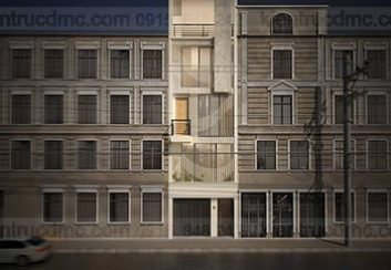 Thiết kế Nhà lô phố 5 tầng 4.14m mặt tiền