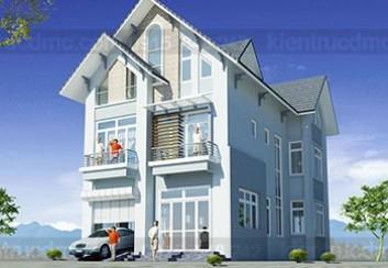 Thiết kế biệt thự 3 tầng trên đất 233m2