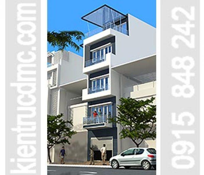 Thiết kế nhà phố 5 tầng mặt tiền hẹp 3,62m