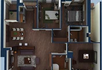 Thiết kế nội thất căn hộ chung cư cao cấp 151m2
