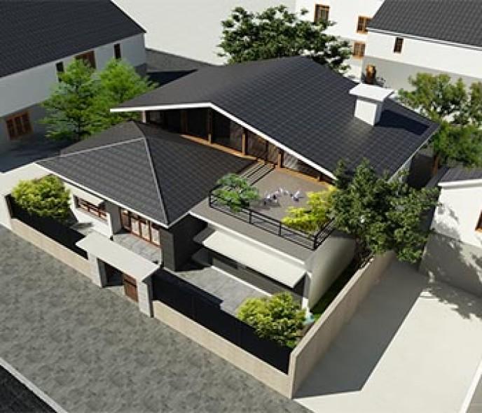 Thiết kế nhà vườn 195m2