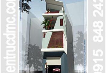 Thiết kế nhà lô phố 4 tầng mặt tiền hẹp