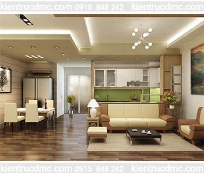 Thiết kế cải tạo nội thất căn hộ mini chung cư Sông Đà