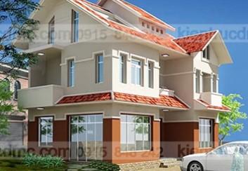 Thiết kế biệt thự nhà vườn 3 tầng 263m2:
